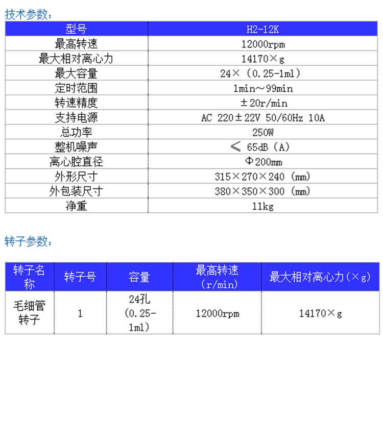 H2-12K毛细管专业亚博电竞菠菜参数
