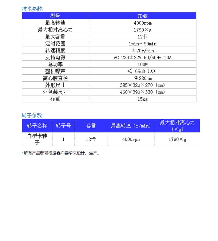 TD4K血型卡专用医用亚博电竞菠菜参数